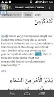 Screenshot of Quran belajar bahasa Malaysia