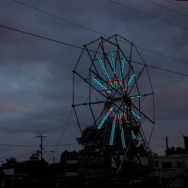 cloudy sky by Chris Taylor - City,  Street & Park  Amusement Parks ( clouds, 365, sky, autumn, amusement, carnival, colors, ferris wheel )