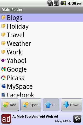 Bookmark Folder Manager Free