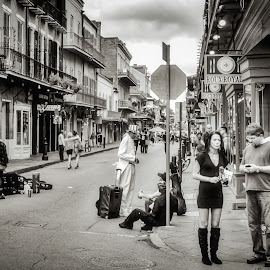 Royals by Craig Boudreaux - City,  Street & Park  Street Scenes ( urban, royal street, new orleans, louisiana, street, french quarter, city )