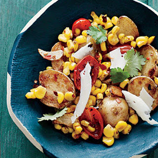 Baby Potatoes with Tomato-Corn Sauté
