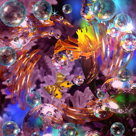 Lots Of Colors by Millieanne Tal - Digital Art Abstract ( colorful, mood factory, vibrant, happiness, January, moods, emotions, inspiration )