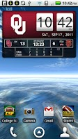 Screenshot of Oklahoma Sooners Live Clock