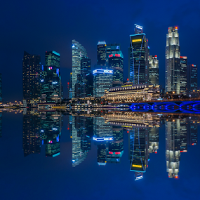 My Singapore by Riki Boo - City,  Street & Park  Night