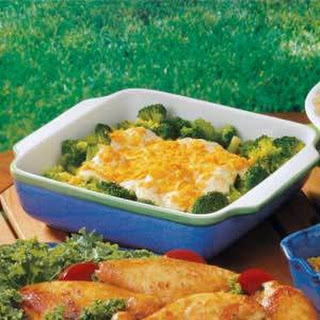 Broccoli Casserole (cheese cracker crumbs)