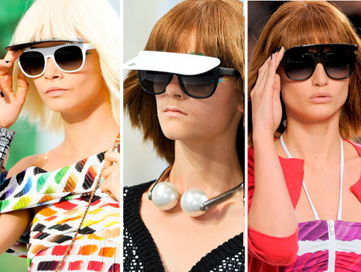 Chanel Spring Summer 2014 sunglasses collection. Visor Sunglasses