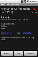 Screenshot of Hanoi City Companion