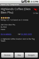 Screenshot of Hanoi City Companion