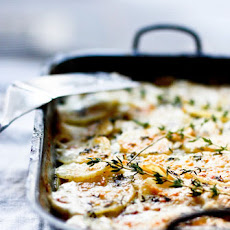 Parsnip Gratin with melty Gruyere and Thyme