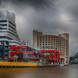 Sights down the Yarra river by Krasimir Lazarov - Buildings & Architecture Office Buildings & Hotels ( skyline, skyscrapers, melbourne, waterscape, tourism, cityscape, architecture, city, yarra river, australia, buildings, travel locations, river )