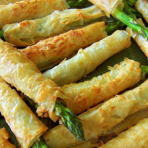 Asparagus Filled Phyllo Pastries