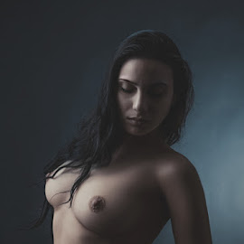 n by Kalin Kostov - Nudes & Boudoir Artistic Nude ( breast, nude, woman, boudoir, hair, women )