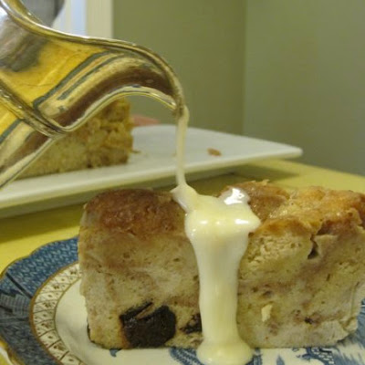 Cider Donut Bread Pudding with Applejack Sauce