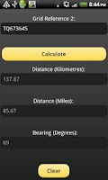 Screenshot of Distance & Bearing Calculator