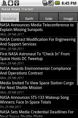 NASA News Tracker