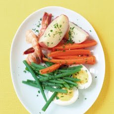 Shrimp and Vegetables with Garlic Mayonnaise