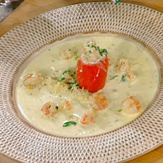 Creamy Herbed Rock Shrimp in Roasted Tomatoes