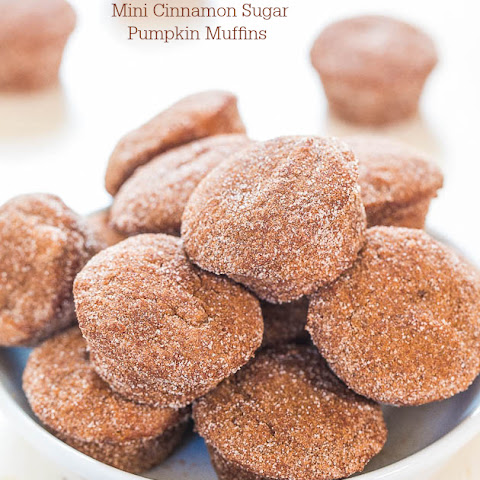 Mini Cinnamon Sugar Pumpkin Muffins