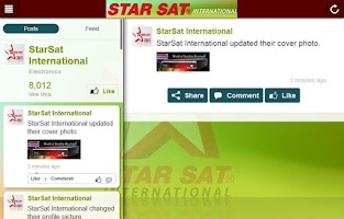 Screenshot of StarSat International