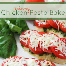 Skinny Chicken Pesto Bake