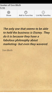 Quotes of Don Bluth - screenshot