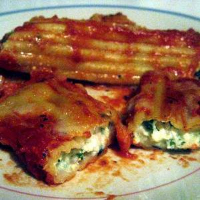 Baked 3-Cheese Manicotti