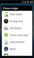 Screenshot of Last Unlocked Widget