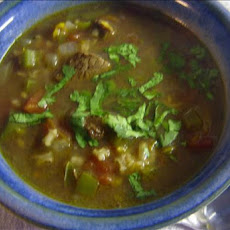Beef and Rice Soup, Mexican Style