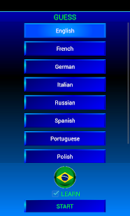 Guess and learn Portuguese - screenshot