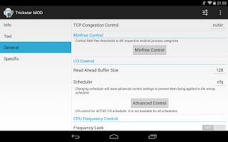 Screenshot of Trickster MOD Kernel Settings