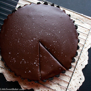 No-Bake Salted Dark Chocolate Mascarpone Tart