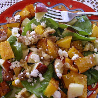 Baby Spinach Salad With Honey Roasted Butternut Squash ...