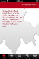 Screenshot of SwissMediaCast