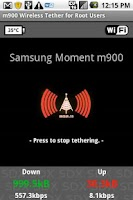 Screenshot of Samsung Moment WiFi Tether