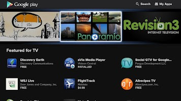 Screenshot of Google Play for Google TV