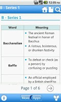 Screenshot of Vocabulary Reference