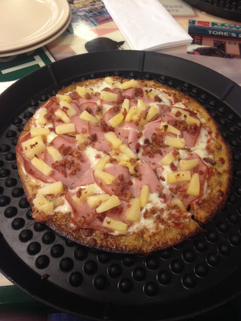 Bacon, ham, and pineapple. My fave!