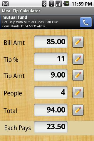 Meal Tip Calculator