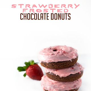 Strawberry Frosted Chocolate Donuts