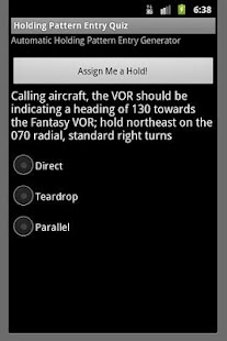IFR Holding Pattern Entry Quiz - screenshot