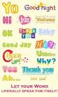 Screenshot of WordArt Chat Sticker