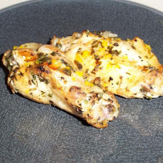 Grilled Chicken Legs With Mint-Orange Sauce