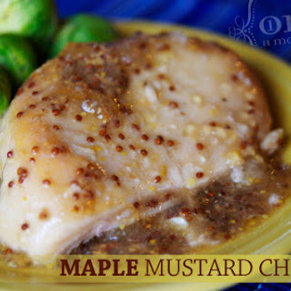 Gluten Free Dairy Free Maple Mustard Chicken