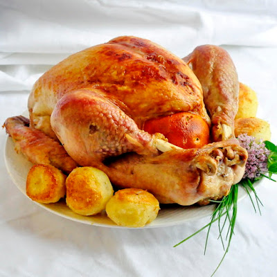 Orange and Clove Brined Roast Turkey
