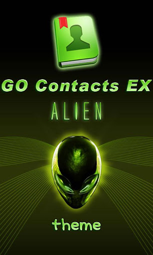 GO Contacts EX Alien theme