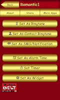 Screenshot of Romantic Ringtones