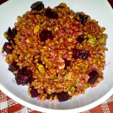 Beet, Walnut, Wheat Berry Salad With Cilantro Lime Vinaigrette