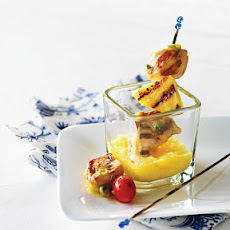 Chicken & Pineapple Skewers with Pineapple Sweet & Sour Sauce