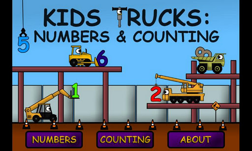 Kids Trucks Numbers Counting