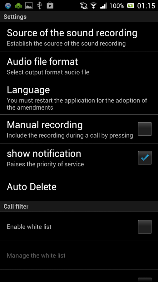 Call Recorder Elite Screenshot 1